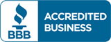 BBB Accredited Business logo.